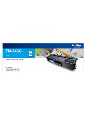 Brother TN346 Genuine Cyan Toner Cartridge - 3,500 pages