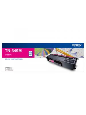 Brother TN349 Genuine Magenta Toner Cartridge - 6,000 pages