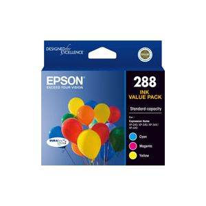 Epson 288 Genuine CMY Colour Pack