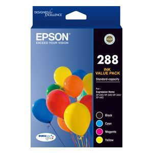 Epson 288 Genuine CMYK Colour Pack