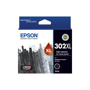 Epson 302 Genuine High Yield Black Ink Cartridge