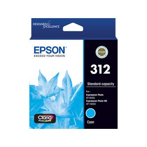Epson 312 (C13T182292) Genuine Cyan Inkjet Cartridge
