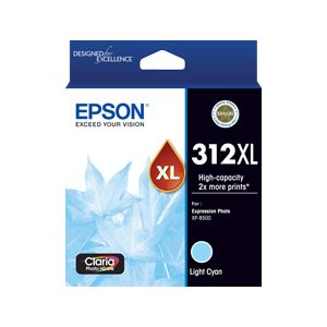Epson 312XL (C13T183592) Genuine Light Cyan High Yield Inkjet Cartridge