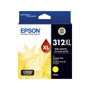 Epson 312XL (C13T183492) Genuine Yellow High Yield Inkjet Cartridge
