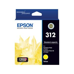 Epson 312 (C13T182492) Genuine Yellow Inkjet Cartridge