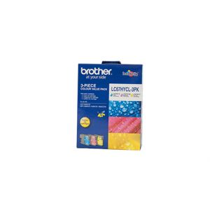Brother LC67 Genuine CMY High Yield Colour Pack - 750 pages each