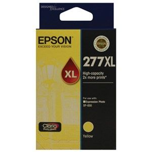 Epson 277XL Genuine High Yield Yellow Ink Cartridge - 740 pages