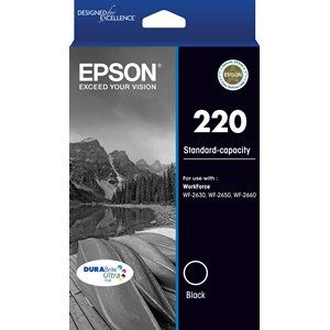 Epson 220 Genuine Black Ink Cartridge - 160 pages