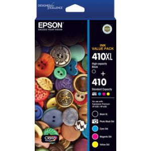 Epson 410 Genuine 5 Ink Value Pack