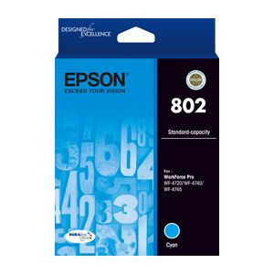 Epson 802 Genuine Cyan Ink Cartridge