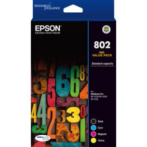 Epson 802 Genuine CMYK Colour Pack