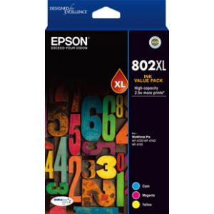 Epson 802 Genuine CMY XL Colour Pack
