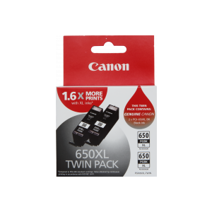 Canon PGI650XL Genuine Black Ink Twin Pack