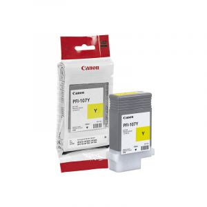 Canon PFI107 Genuine Yellow Ink