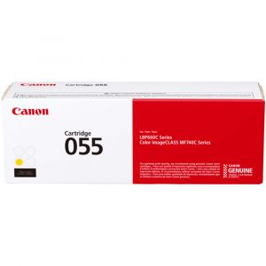 Canon CART 055 Genuine Yellow Toner Cartridge - 2,100 pages