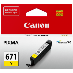 Canon CLI671 Genuine Yellow Ink Cartridge