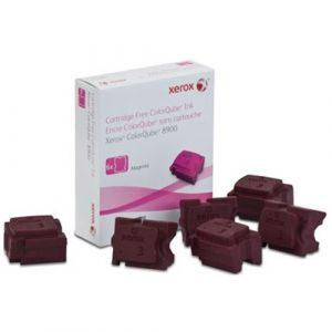 6 pack Fuji Xerox ColourQube 8900 Genuine Magenta Ink Sticks - 16,900 pages (108R01031)