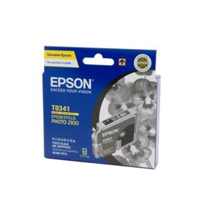 Epson T0341 Genuine Photo Black Ink - 628 pages
