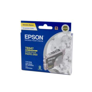 Epson T0347 Genuine  Light Black Ink - 440 pages