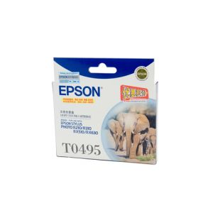 Epson T0495 Genuine Light Cyan Ink - 430 pages
