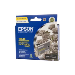 Epson T0548 Genuine Matte Black Ink - 550 pages