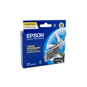 Epson T0592 Genuine Cyan Ink Cartridge - 450 pages
