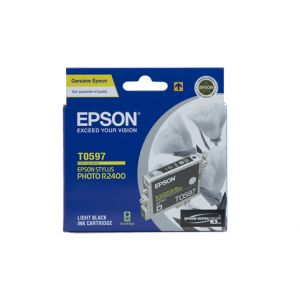 Epson T0597 Genuine Light  Black Ink Cartridge - 450 pages