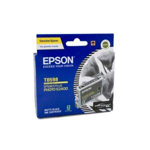 Epson T0598 Genuine Matte Black Ink Cartridge - 450 pages