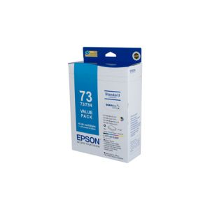 Epson 73N Genuine Ink Value Pack - bk 230 pages cl 310 pages