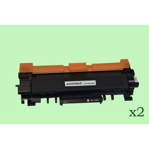 2 x Eco-Friendly Envirotech, Brother TN-2450 Toner Cartridge - 3,000 pages (Australia Made)