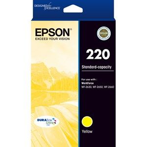 Epson 220 Genuine Yellow Ink Cartridge - 165 pages