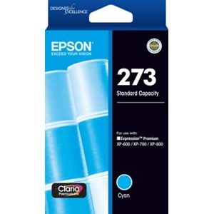 Epson 273 Genuine Cyan Ink Cartridge - 300 pages
