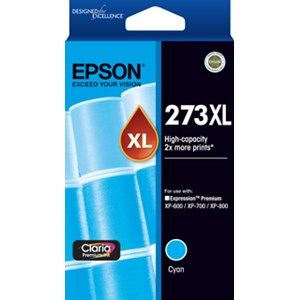 Epson 273XL Genuine High Yield Cyan Ink Cartridge - 650 pages