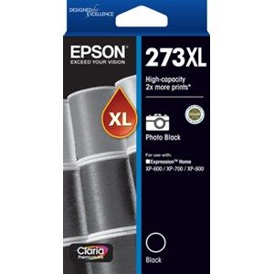 Epson 273XL Genuine High Yield Photo Black Ink Cartridge - 500 pages