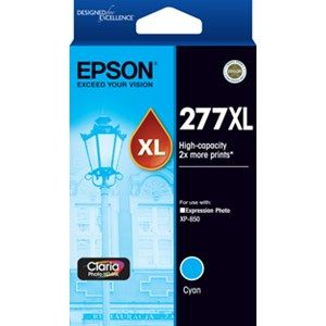 Epson 277XL Genuine High Yield Cyan Ink Cartridge - 740 pages