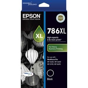 Epson 786XL Genuine Black Ink Cartridge - 2,600 pages