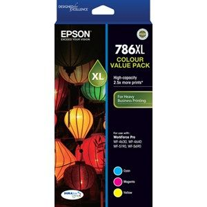 Epson 786XL Genuine 3 Colour Value Pack