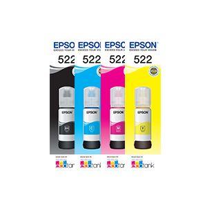 4-Pack Genuine Epson T522 EcoTank Ink Bottle [BK+C+M+Y]