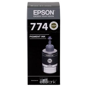 Epson T774 Genuine Black Eco Tank Ink Bottle