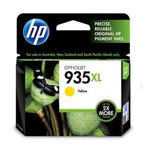 HP #935XL Genuine Yellow High Yield Ink Cartridge C2P26AA - 825 pages