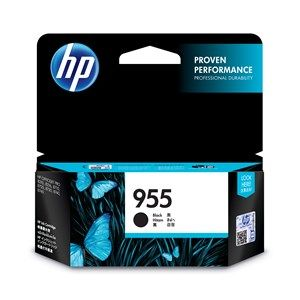 HP #955 Genuine Black Ink Cartridge L0S60AA - up to 1,000 pages