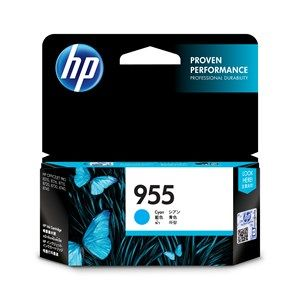 HP #955 Genuine Cyan Ink Cartridge L0S51AA - up to 700 pages