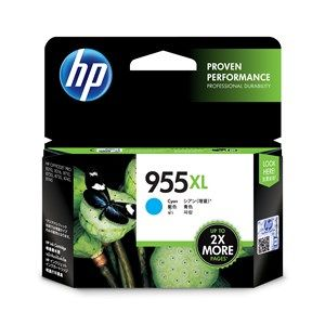 HP #955XL Genuine Cyan High Yield Ink Cartridge L0S63AA - up to 1,600 pages