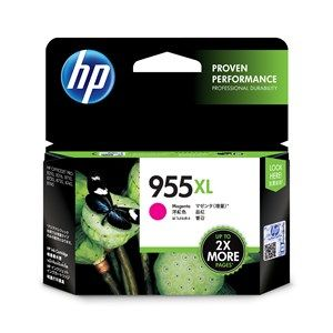 HP #955XL Genuine Magenta High Yield Ink Cartridge L0S66AA - up to 1,600 pages