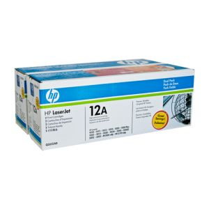 HP #12A Genuine Twin Pack Q2612AD - 2,000 pages