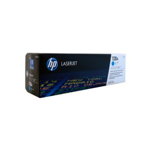 HP #128A Genuine Cyan Toner CE321A - 1,300 pages