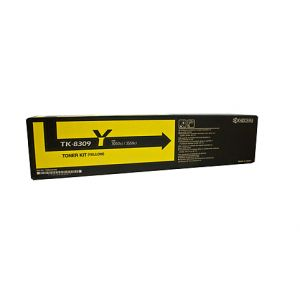 Kyocera TK8309Y Genuine Yellow Toner - 15,000 pages