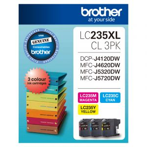 Brother LC235XL Genuine CMY Colour Pack - Up to 1,200 pages each