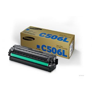 Samsung CLTC506L Genuine Cyan Toner Cartridge SU040A - 3,500 pages