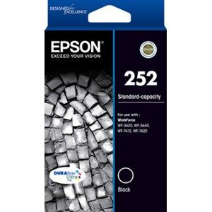 Epson 252 Genuine Black Ink Cartridge - 350 pages